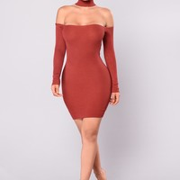 Liv Sweater Dress - Marsala