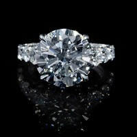 1.53ct Diamond Antique Style 18k White Gold Engagement Ring Setting