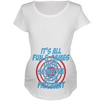 Fun And Games Get Pregnant Maternity Soft T Shirt