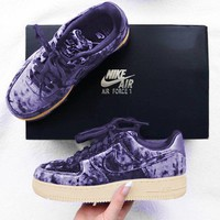 Nike Air Force 1 '07 Premium Velvet Women Sports Shoes Lavender