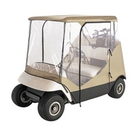 Classic Accessories Travel 4-Sided Golf Cart Enclosure (Beige/Khaki)