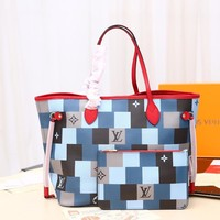Kuyou Gb29810 Lv Louis Vuitton M40995 Neverfull Damier Canvas Handbags Business Bags Neverfull Mm 32¡Á29¡Á17cm