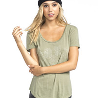 O'neill Arrow Vibes Womens Tee Olive  In Sizes