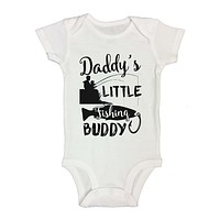 Daddy's LITTLE Fishing BUDDY - Cute Kids Onesuit