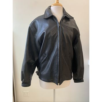 Vintage Coach Black Leather Moto Jacket