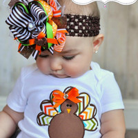 Fall Turkey Diva  Thanksgiving  Baby shower  by 5littleblessings
