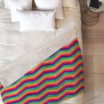 Lara Kulpa Chevron Brights Fleece Throw Blanket