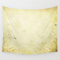 Butterfly Garden  Wall Tapestry by Leatherwood Design