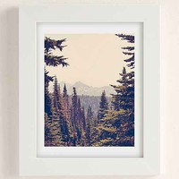 Kurt Rahn Mountains Through The Trees Art Print