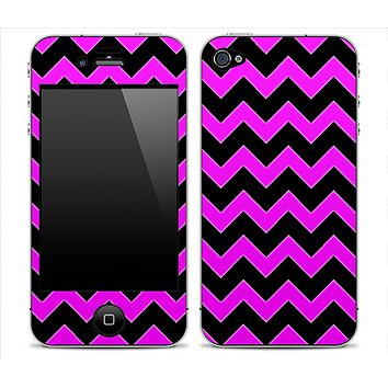 Black Chevron and Hot Pink Print Skin for the iPhone 3gs, 4/4s or 5