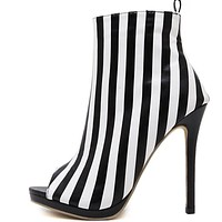 Open Toe Prisoner Short Boots