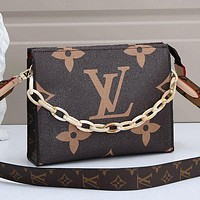 LV Louis Vuitton Women Monogram Canvas Shoulder Bag