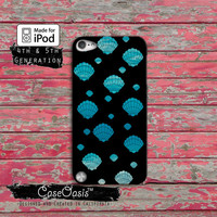 Seashell Pattern Ocean Beach Mermaid Shells Cute Tumblr iPod Touch 4th Generation or iPod Touch 5th Generation Rubber or Plastic Case