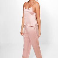 Freya Contrast Piping Vest And Trouser Set
