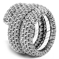 Women's John Hardy 'Classic Chain' Double Coil Ring - Silver