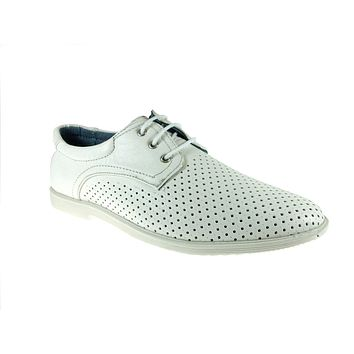 Men's Luke-01 Casual Round Toe Perforated Driving Sneakers Shoes