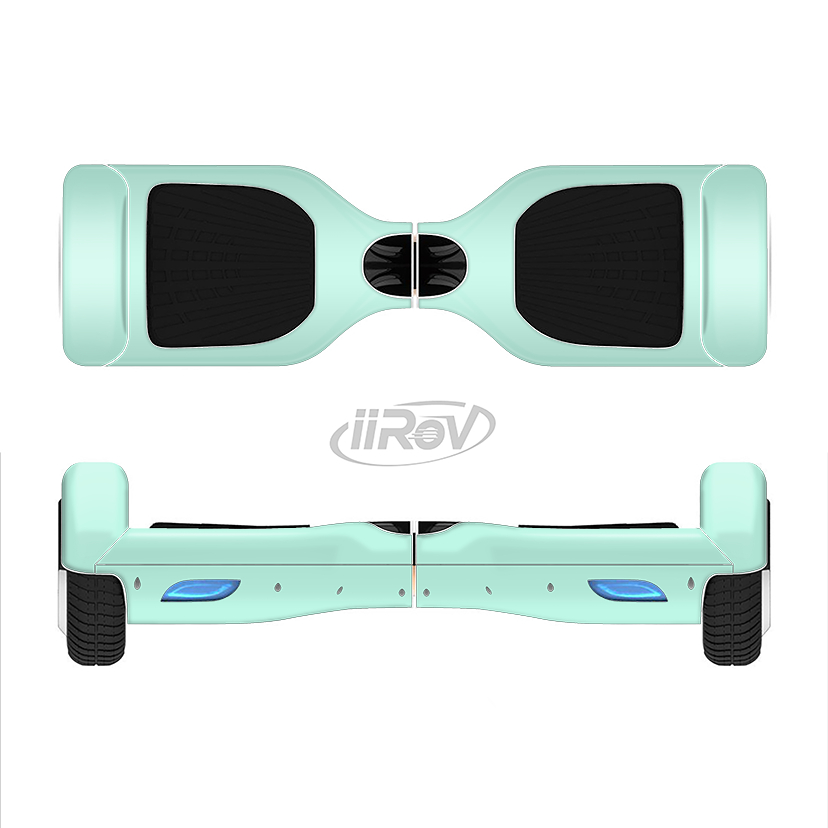 Image of The Subtle Solid Green Full-Body Skin Set for the Smart Drifting SuperCharged iiRov HoverBoard