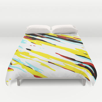 Trippy Panda 8 Duvet Cover by HappyMelvin Graphicus