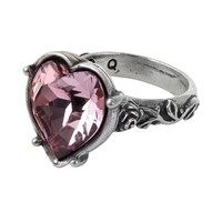 Alchemy Gothic Bower Troth Pink Heart & Snakes Serpants Ring
