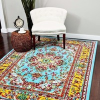 01100 Blue Oriental Area Rugs