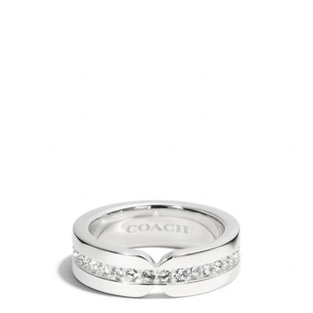 STERLING PAVE ID BAND RING