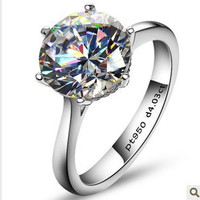 4 carat Simulated diamond Ring Sterling silver