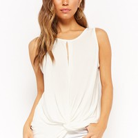 Sleeveless Twist-Front Top