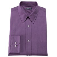 Croft & Barrow Fitted Mini Checkerboard Point Collar Dress Shirt, Size: