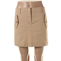 Theory Womens Solid Pockets A-Line Skirt