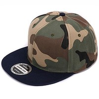 Hatlander Camouflage Snapback Polyester Cap Blank Flat Camo Baseball Cap With No Embroidery Mens Cap And Hat For Men And