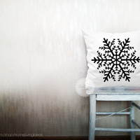 Snowflake pillows decorative throw pillows winter pillows snowflake throw pillows Christmas pillows holiday pillows 20x20 inches pillows