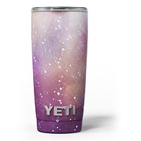 The Grungy Purple and Orange Scratched Surface - Skin Decal Vinyl Wrap Kit compatible with the Yeti Rambler Cooler Tumbler Cups
