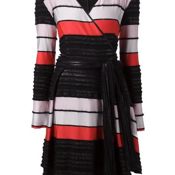 Tanya Taylor striped wrap dress