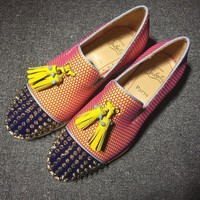 DCCK2 Cl Christian Louboutin Loafer Style #2323 Sneakers Fashion Shoes