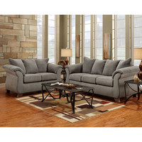 Exceptional Designs Living Room Set in Sensations Grey Microfiber