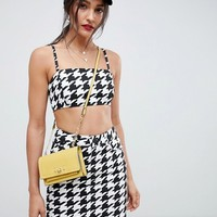 ASOS DESIGN two-piece houndstooth skirt at asos.com