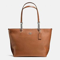 Perfect COACH Women Shopping Leather Handbag Tote Shoulder Bag