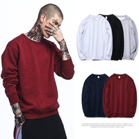 Thicken Men's Fashion Winter Round-neck Hoodies [235157585949]