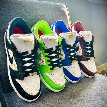 Nike SB Dunk Low Sup Stars Men's and Women's Sneakers Shoes