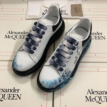 Alexander McQUEEN   Fashion Men Women's Casual Running Sport Shoes Sneakers Slipper Sandals High Heels Shoes