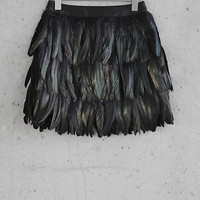 Express Edition Iridescent Feather Skirt from EXPRESS