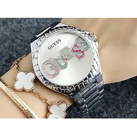 GUESS 2018 men and women with the same paragraph simple and stylish quartz watch F-Fushida-8899 3