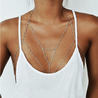 Vintage Gold/Silver Plated Body Chain Bralette