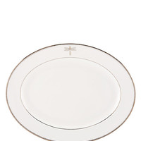 "Kate Spade 16"" June Lane Oval Platter Silver ONE"