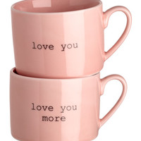 H&M 2-pack Porcelain Mugs $17.99