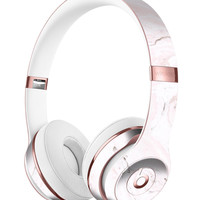 Mixtured Pink and Gray 37 Textured Marble Full-Body Skin Kit for the Beats by Dre Solo 3 Wireless Headphones