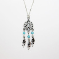 Dream Catcher Necklace  /  Twilight Inspired /  Feather Necklace / Native American Jewelry