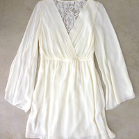 Bohemian Ivory Lace Party Dress [6835] - $42.00 : Feminine, Bohemian, & Vintage Inspired Clothing at Affordable Prices, deloom