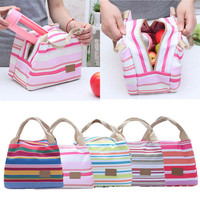 New totes fashion lancheira cooler insulated women men insulation thermal bag fruit lunch bag
