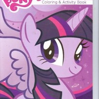 My Little Pony Jumbo Coloring & Activity Book ~ Twilight Sparkle on Purple (96 Pages)